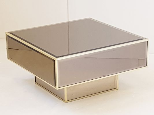 French Mirrored Glass Coffee Table From Roche Bobois, 1970s 1