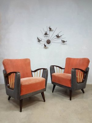 Mid Century Modern French Lounge Chairs