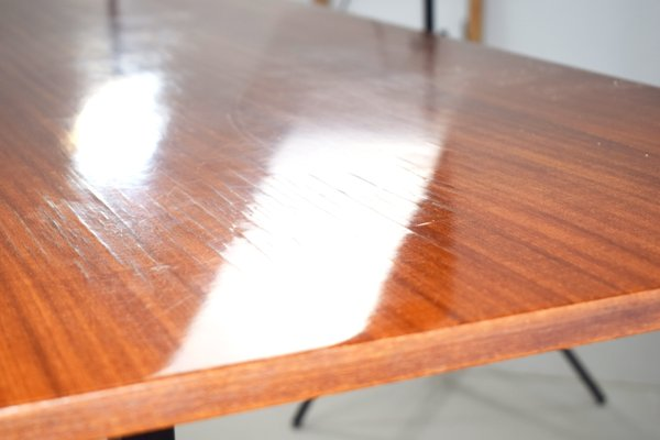 Italian Table In Wood And Iron 1950s 2