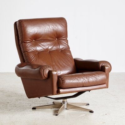 Strange Vintage Danish Buttoned Leather Reading Armchair 1960S Caraccident5 Cool Chair Designs And Ideas Caraccident5Info