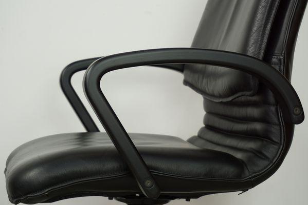 Sedie Da Ufficio In Pelle : Sedia da ufficio girevole in pelle anni 80 in vendita su pamono