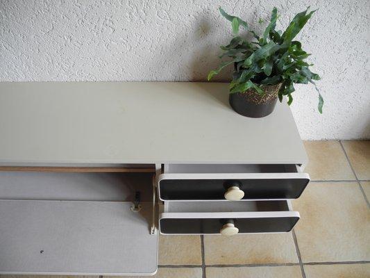 Black White Coat Rack Shoe Cabinet 1970s