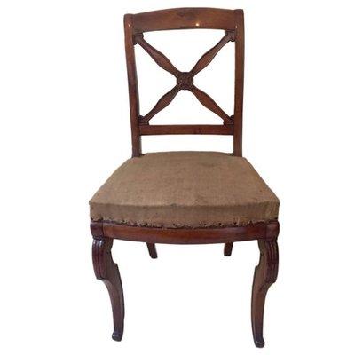 Antike Franzosische Empire Chairs Aus Nussholz 1820er 5er Set Bei