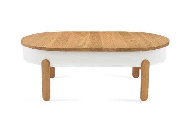 Large Oak White Batea Coffee Table By Daniel García Sánchez For Woodendot 1