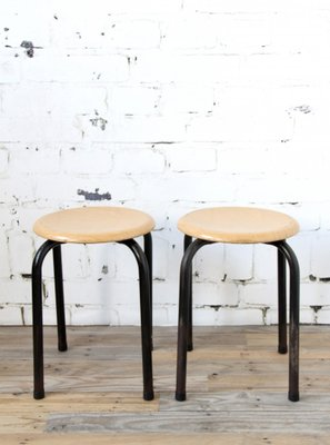 Industrial Stools With Black Frames 1970s Set Of 2 For Sale At Pamono