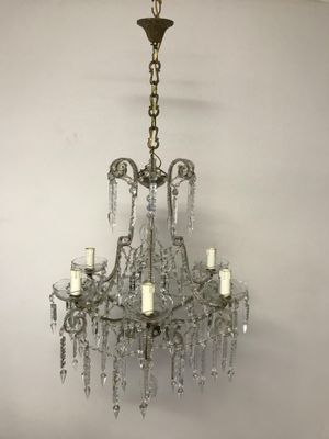 Vintage crystal beaded chandelier for sale at pamono vintage crystal beaded chandelier 1 aloadofball Gallery