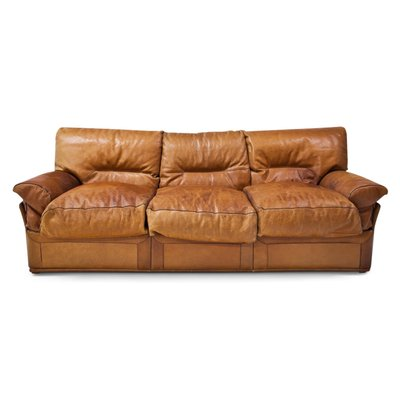 9735aaddf35 Vintage 3-Seater Sofa in Brown Leather for sale at Pamono