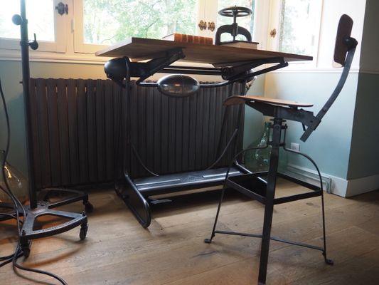 Scrivania Da Disegno : Tavolo da disegno oza mid century di la cellophane ozalide in