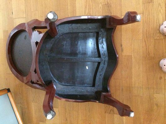 Bureau chinois laquée avec chaise 11 tiroirs 2 portes