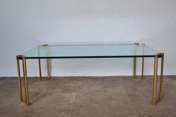 French Bronze U0026 Glass Coffee Table, 1960s 1
