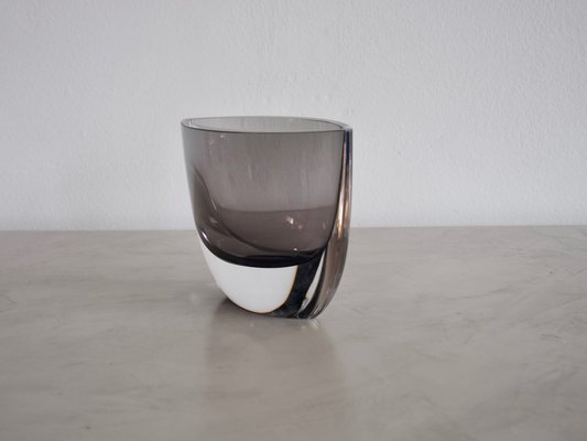 Vintage Smoked Glass Vase By Christian Von Sydow For Kosta Boda For