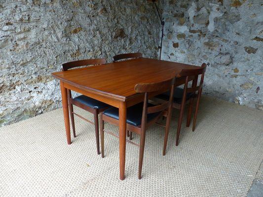 Table De Salle A Manger Extensible Vintage Scandinave En Teck En