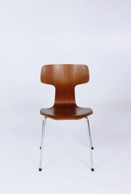 Model 3103 Teak Dining Chairs By Arne Jacobsen For Fritz Hansen 1960s 1