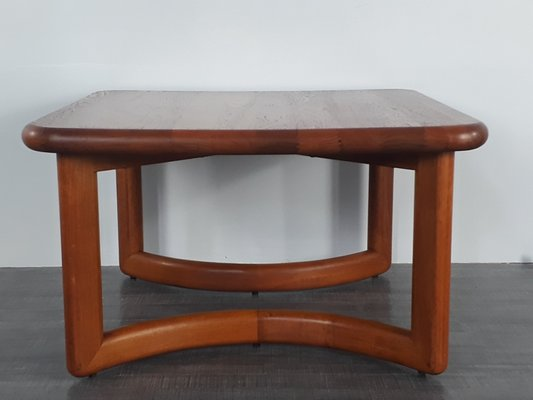 Solid Teak Square Coffee Table 1960s For Sale At Pamono