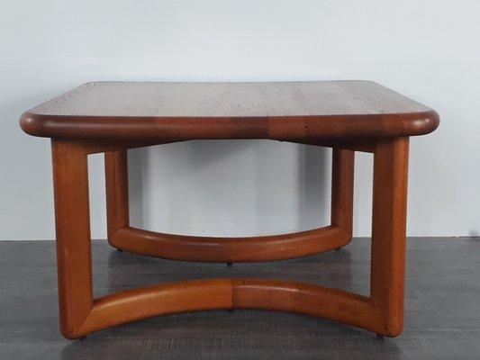 Table Basse Teck Massif.Table Basse Carree En Teck Massif 1960s