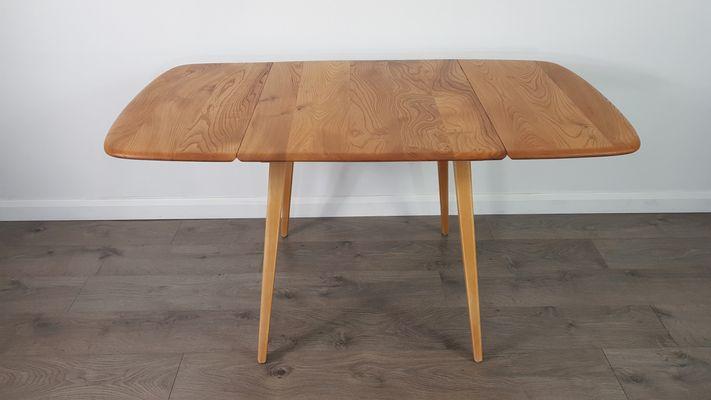 Table De Salle à Manger Plateau Rabattable Vintage En Orme Par