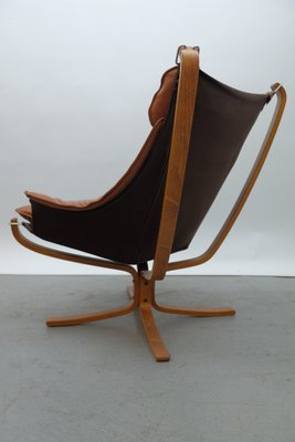 Falcon Chair and Ottoman by Sigurd Ressell for Vatne Møbler, 1970s
