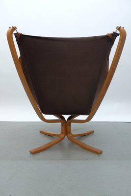 falcon wingback chair and ottoman by sigurd ressell for vatne møbler