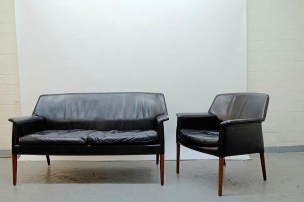 Mid Century Sofa And Lounge Chair By