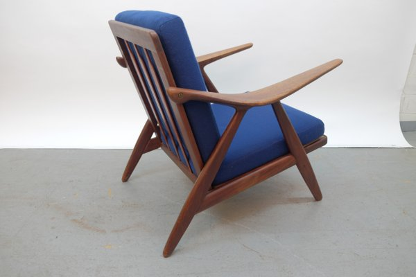 Miraculous Vintage Danish Modern Lounge Chair With Curved Armrests Andrewgaddart Wooden Chair Designs For Living Room Andrewgaddartcom