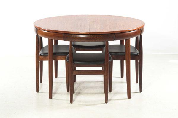 Superior Vintage Roundette Dining Set By Hans Olsen For Frem Røjle 1