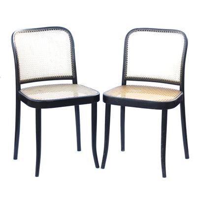 Model 811 Chairs By Josef Hoffmann For TON, 1970s, Set Of 2 1
