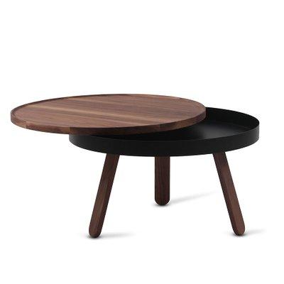 Medium Walnut Black Batea Coffee Table With Storage By Daniel Garcia Sanchez For Woodendot For Sale At Pamono