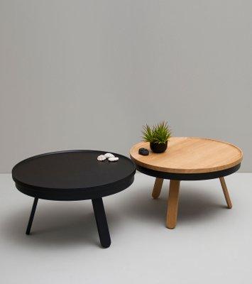 Medium Oak Black Batea Coffee Table With Storage By Daniel Garcia
