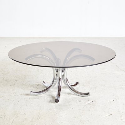 Glass Coffee Table White Base 2