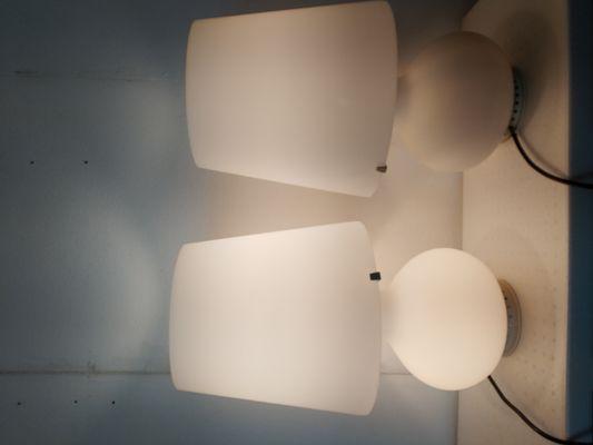 Lampade da tavolo modello di max ingrand per fontana arte