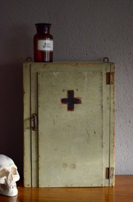 Antique French Medicine Cabinet For