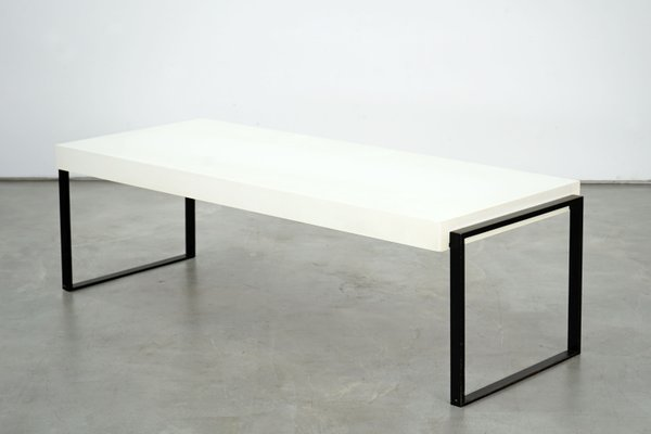 White Lacquered Coffee Table 1960s