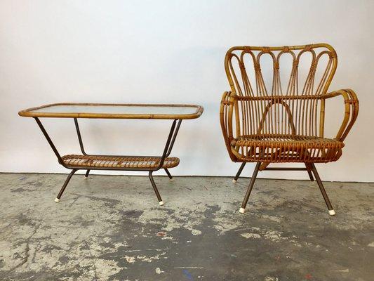 table fauteuil en bambou rotin italie - Fauteuil Bambou