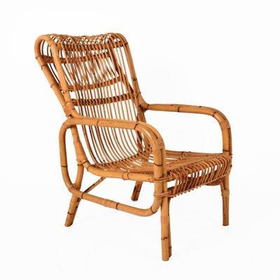 Vintage Italian Bamboo Armchair, 1960s 1