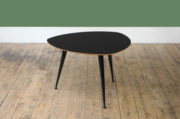 Mid Century Black Lacquered Coffee Table 2