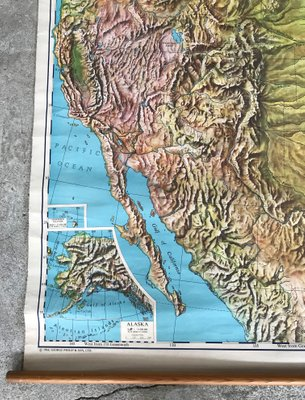 Geographical United States Map from Philip and Son, 1968 on geographical map of papua new guinea, geographical map of western us, geographic location of united states, exact center of the united states, map of england and united states, map of northern canada and united states, terrain united states, road map of northwestern united states, organized incorporated territories of the united states, subtropical area of the united states, geographical map of texas, the region of northeast united states, northern border of the united states, map of caribbean islands and united states, member nations of the united states, physical geography map united states, geographical map of malaysia, map of eastern united states, geographical map of burma, ancient maps of the united states,