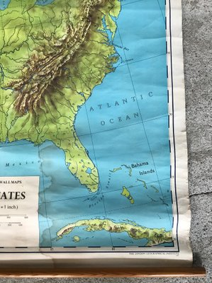 Geographical United States Map.Geographical United States Map From Philip And Son 1968 For Sale At