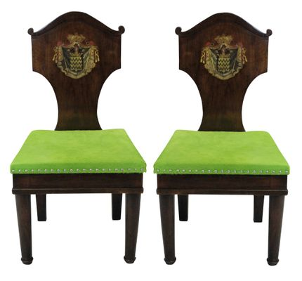 Antique Mahogany Hall Chairs, 1780s 1 - Antique Mahogany Hall Chairs, 1780s For Sale At Pamono