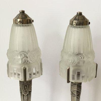 Kleine Art Deco Tischlampen 2er Set