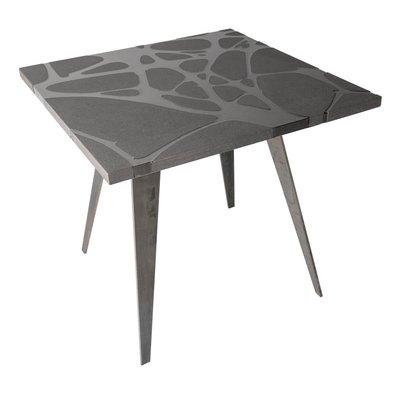 Tavoli Da Giardino In Pietra.Tavolo Da Giardino Filodifumo Ventura V3 In Pietra Lavica Ed Acciaio
