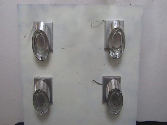 Applique da parete vintage di oscar torlasco per stilkronen in
