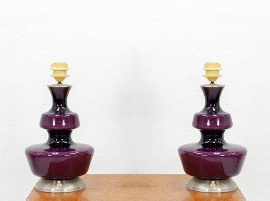 Set Da Scrivania Viola : Lampade da tavolo viola di holmegaard anni set di in