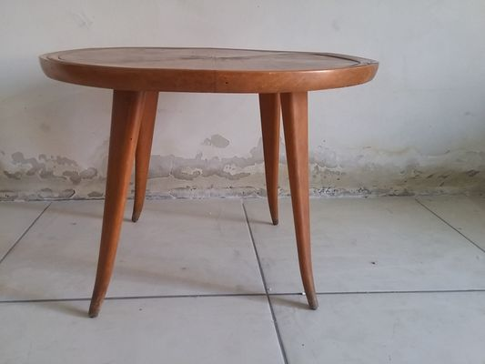 Cherry Wood Coffee Table 1950s For