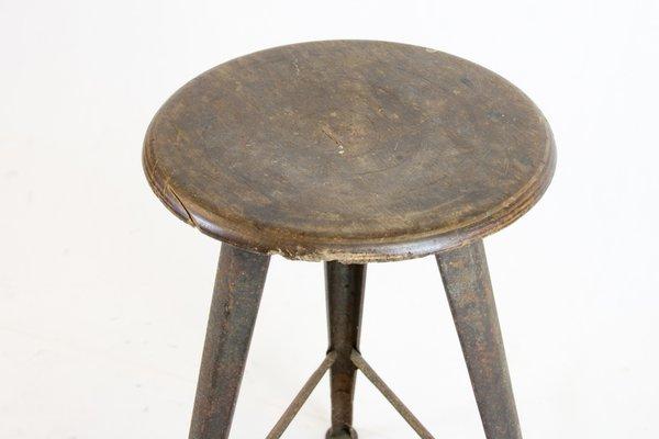 Sgabello da lavoro vintage di robert wagner per rowac in vendita su
