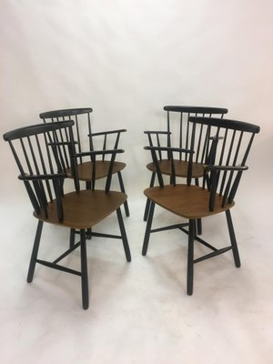 9865d75028fb Vintage Scandinavian Spindleback Dining Chairs, 1950s, Set of 4 for ...