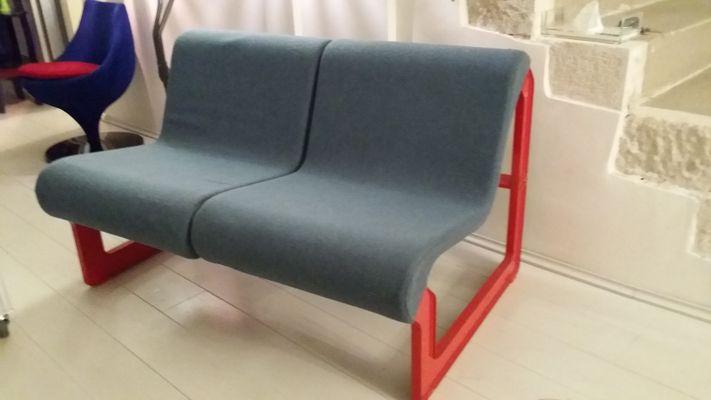 Canapé Vintage Bleu / Gris de Artifort en vente sur Pamono