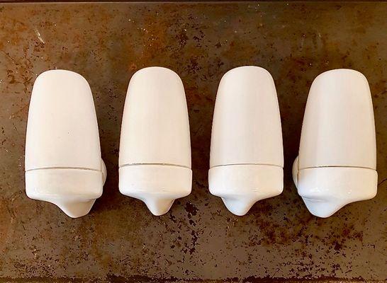 Applique da parete in ceramica di wilhelm wagenfeld per lindner