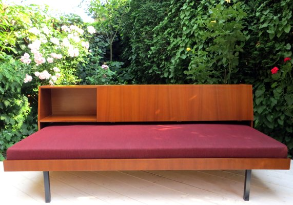 Mid Century Modern Daybed With Shelf 1960s