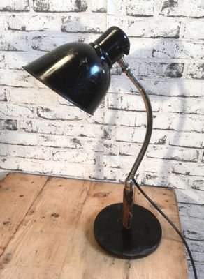 Lampe De Bureau Vintage Industrielle En Noir En Vente Sur Pamono