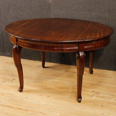 Vintage French Mahogany Dining Table, 1930s 1